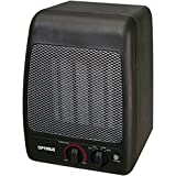 Space Heater Portable, Optimus H-7000 Black Small Electric Patio Heater Portable