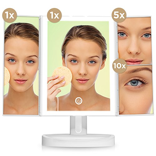 Buy lighted magnified makeup mirror