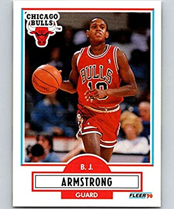 7c7d493e172 Amazon.com  1990-91 Fleer  22 B.J. Armstrong RC Rookie Bulls NBA ...