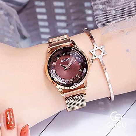 Star Hermoso De Rhinestone Women Hwcoo Pulsera Guou Relojes Watch 4Rj5AL
