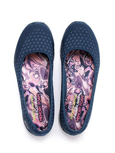 Skechers Damen-Microburst One Up Slip-On Sneaker - Navy, Marineblau, 35