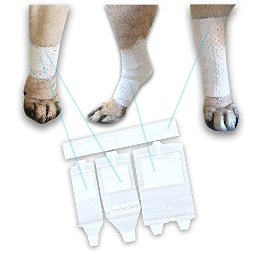 Pawflex Bandages, Non-Adhesive, Disposable, Washable and Reusable First Response Care Kit for Legs by PawFlex