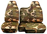 60 40 split camo seat covers - 1998-2003 Ford Ranger/Mazda B-Series Camo Truck Seat Covers (60/40 Split Bench) - No Armrest/Console: Brown and Green Camouflage (16 Prints) 1999 2000 2001 2002
