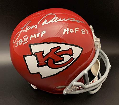 - Len Dawson Signed Helmet - KC F S + HOF 87 SB IV MVP - PSA/DNA Certified - Autographed NFL Helmets