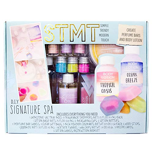 51g48s3dpLL - STMT DIY Signature Spa Kit by Horizon Group USA, Create 4 Personalized Perfume Bars & 2 Bottles of Lotion. Lavender, Rose & Vanilla Scents Included, Multicolored
