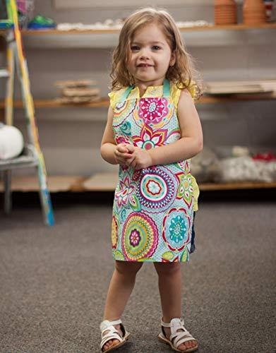 Toddler Girl Handmade Colorful Art Kitchen Craft Gift Apron from Sara Sews