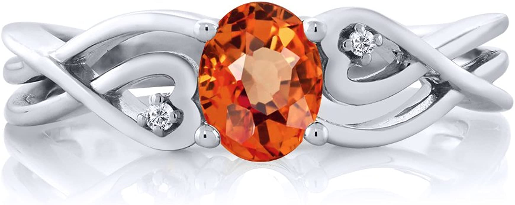 Orange Sapphire Ring Silver Petal Ring Hammered Ring Band Deep Orange Sapphire Sterling Silver Ring September Birthstone Ring