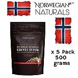 Norwegian Naturals Coffee Scrub Arabica Coffee Scrub Organic For Face & Body Exfoliating Cellulite Reduction Eczema and Acne Varicose Veins Rosacea Stretch Marks Ageing Skin 8.8 Oz/ 250 grams