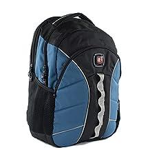 SwissGear Sun Backpack With 16 Laptop Pocket (Black/Dark Blue)