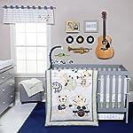 Trend-Lab-Safari-Rock-Band-6-Piece-Crib-Bedding-Set-GreenBlue
