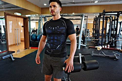 Musculaci/ón Ropa Deportiva de Secado R/ápido para Ejercicio Gimnasio Khroom Camiseta de Compresi/ón de Superh/éroe para Hombre Material Extensible Ventilado Anti Transpiraci/ón Running