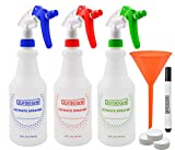 Duracare Ultimate Plastic Trigger Sprayer Bottles, 24oz, Set of 3, Household & Commercial