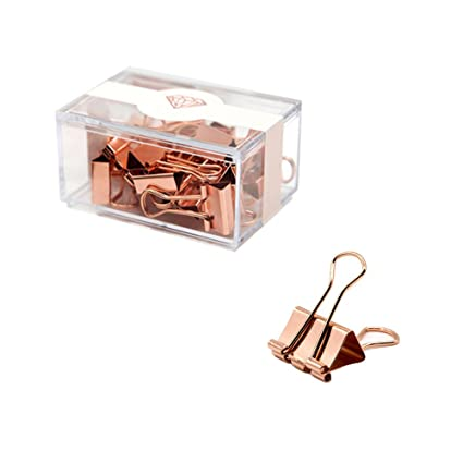 757ae637587 Amazon.com   MultiBey Rose Gold Binder Clips Fashion Metal Clips ...