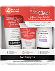 Neutrogena Acne Treatment Kit, Rapid Clear Stubborn Acne Solution, 3 Products