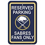 "NHL Buffalo Sabres Reserved Parking Sign, 12"" x 18"""