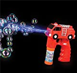 5'' LIGHT AND SOUND FIRE TRUCK BUBBLE BLASTER, Case of 48