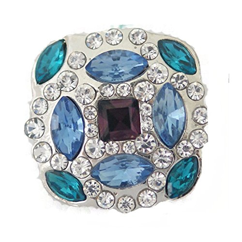 Chunk Bling - Chunk Snap Charm Bling Sapphire, Blue Topaz and Purple Color Crystals 25mm