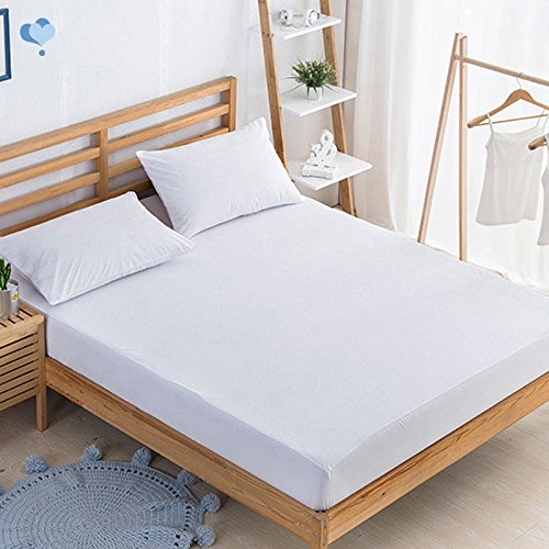 "Whiteosplash Bedding Kraft Mattress Pad Protector ❤️100% Waterproof Mattress Pad Cover Breathable❤️Hypoallergenic❤️Vinyl Free❤️Fitted upto 21"" Deep Pocket (Cal-King)"