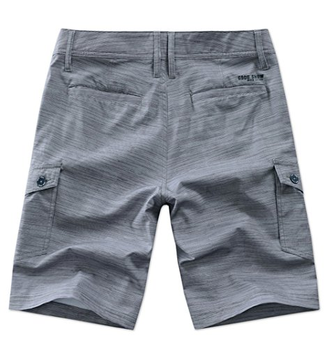 - GSOU Snow Men's Casual Classic Cargo Short Quick Dry Trunks Board Fit Pocket Boy Sumer Pants Swimwear Swimsuit Beach