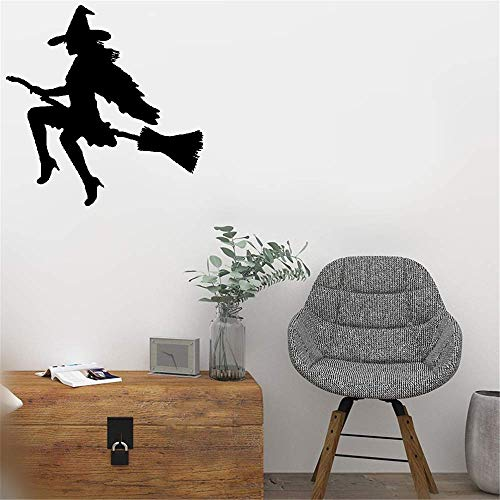 Jiualy Quotes Wall Stickers Removable Vinyl Art Wall Decal Witch Halloween Magic for Nursery Baby