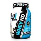 BPI Sports Whey-HD Ultra Premium Whey Protein Powder, Milk & Cookies, 2 Pound by BPI Sports