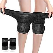 Protective Knee Pads, 1 Pair Sponge Non-slip Adjustable Knee Protector Elastic Breathable Knee Sleeve Pad for