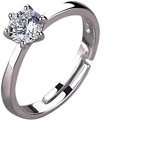 Appoi Jewelry Women S Men S Ring Elegant Band Silver Crystal