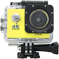 ESCENERY Waterproof 4K SJ9000 Wifi HD 1080P Ultra Sports Action Camera DVR Cam Camcorder ,170°A+ HD Wide-Angle Lens (Yellow)