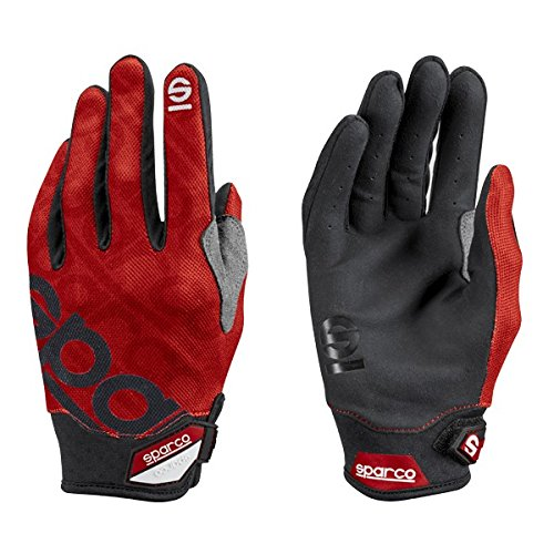 Sparco Meca 3 Mechanics Glove 002093 (Size: Large, Red)