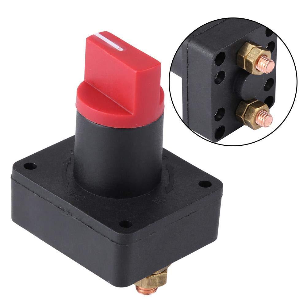 KIMISS 6MM 300A D/éconnexion Lisolateur Batterie Couper Commutateur Puissance pour Bateau Camion de Voiture