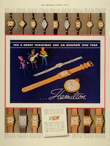 1937 Ad Hamilton Wrist Pocket Watch Models Clarissa - Original Print (Hamilton Vintage Wrist Watch)