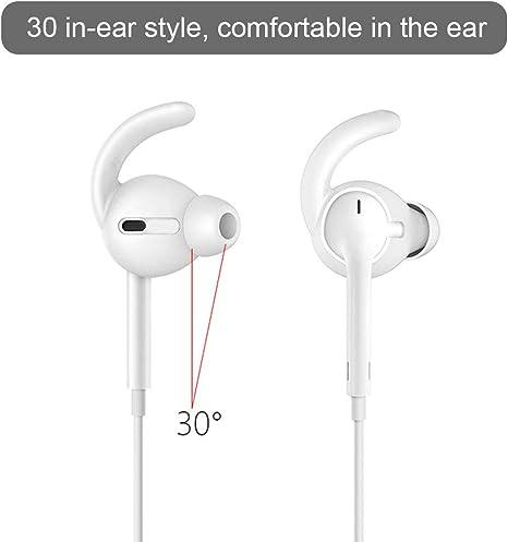 KBNIAN 3 Paires de Embout Silicone Coussinet Intra Auriculaire Ultra Souple SML Couverture Protection avec Pochette de Rangement pour Écouteur Apple