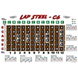 Lap Steel Guitar Fretboard Chart Poster - C6 Tuning