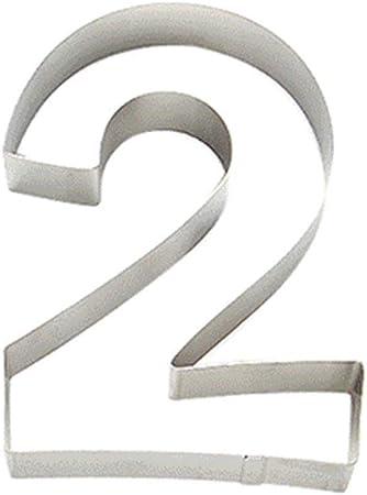 20,3/cm Grand Nombre Moule pour g/âteaux en acier inoxydable Chiffre Emporte-pi/èces DIY Fondant Moule /à g/âteau danniversaire pour f/ête de mariage free size 2