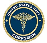 1 Pc Famous Fashionable U.S. Navy Corpsman Stickers Signs Wall Decor Military Size 4.5