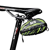 SLS3 Saddle Bag | Cycling Bag | Bicycle Seat Pack | Water Resistant Tool Bag | Hard Shell Bike Saddle Bags Rear (Black/Lime Green)