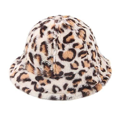 ✩ZTY66✩ Baby Hat Velvet Fisherman Leopard Caps Boys Girls Spring Autumn Winter Hats (B)