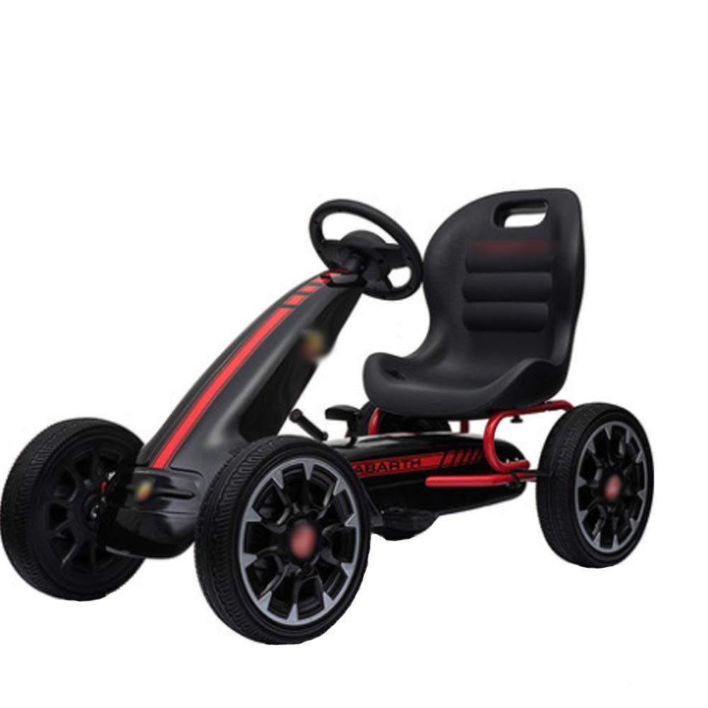Chenyang86 Karting - Pedal de Cuatro Ruedas Antideslizante Duradero Kart (Color : Negro, Tamaño : 98  58  33cm)