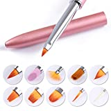 NICOLE DIARY Changeable Nail Painting Brushes Set Replaceable Liner UV Gel Brush Acrylic Nail Art Drawing Pen Kit