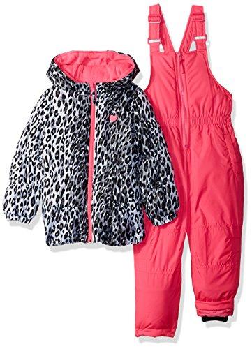 Pink Platinum Girls' Little Printed Super Snowsuit, Pink Cheetah 4