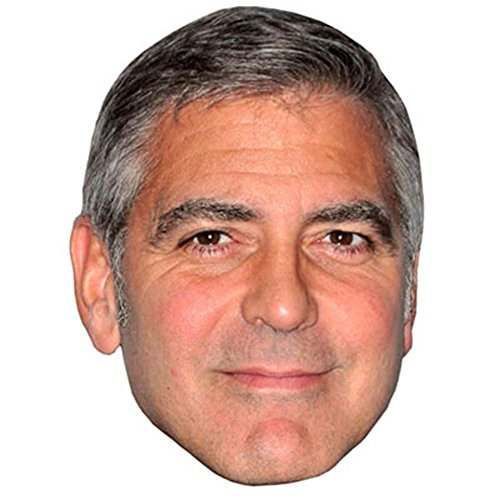 George Clooney Celebrity Mask, Card Face and Fancy Dress Mask