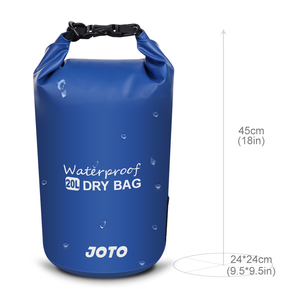 Dry Bag Sack Backpack 20L Kayaking Rafting 20L Floating Dry Bag Swimming Camping Hiking JOTO Waterproof Dry Bag for Outdoor Activities Fishing Perfect for Boating Black Floating