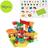 Chocozone Marble Run Track 98 Piece Marble Maze Building Sets Challenge Levels for STEM Learning, Educational Building Blocks Toys for 6 Years Old (Multicolor)