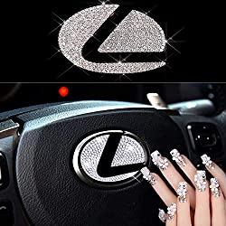Lexus Steering Wheel Crystal Badge Emblem Sticker