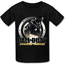 LR Call Of Duty Advanced Warfare Icon T Shirt For Kids Big Boys' Tee Shirt Black S