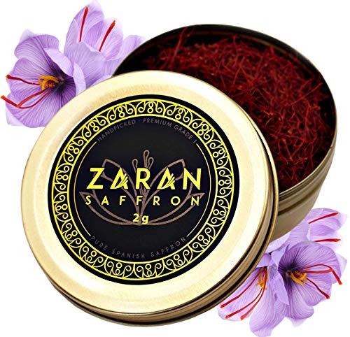 - Zaran Saffron, Superior Saffron Threads (Premium) All-Red Saffron Spice (Highest Quality Saffron for your Paella, Risotto, Persian Tea, Persian Rice and Basmati Rice) (Spanish (Coupe), 2 Grams)
