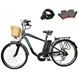 Nakto 250W Shimano 6-Speed Gear Electric Bicycle with 36V10Ah Lithium Battery