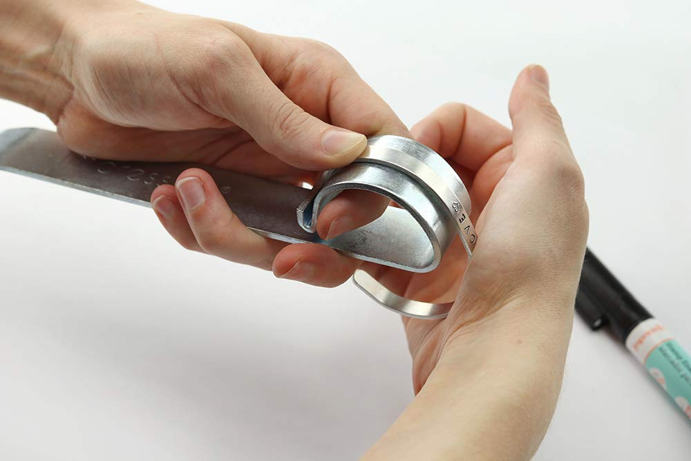 ImpressArt Bracelet Bending Bar Kit w/ 7 Bracelet Stamping Blanks by ImpressArt