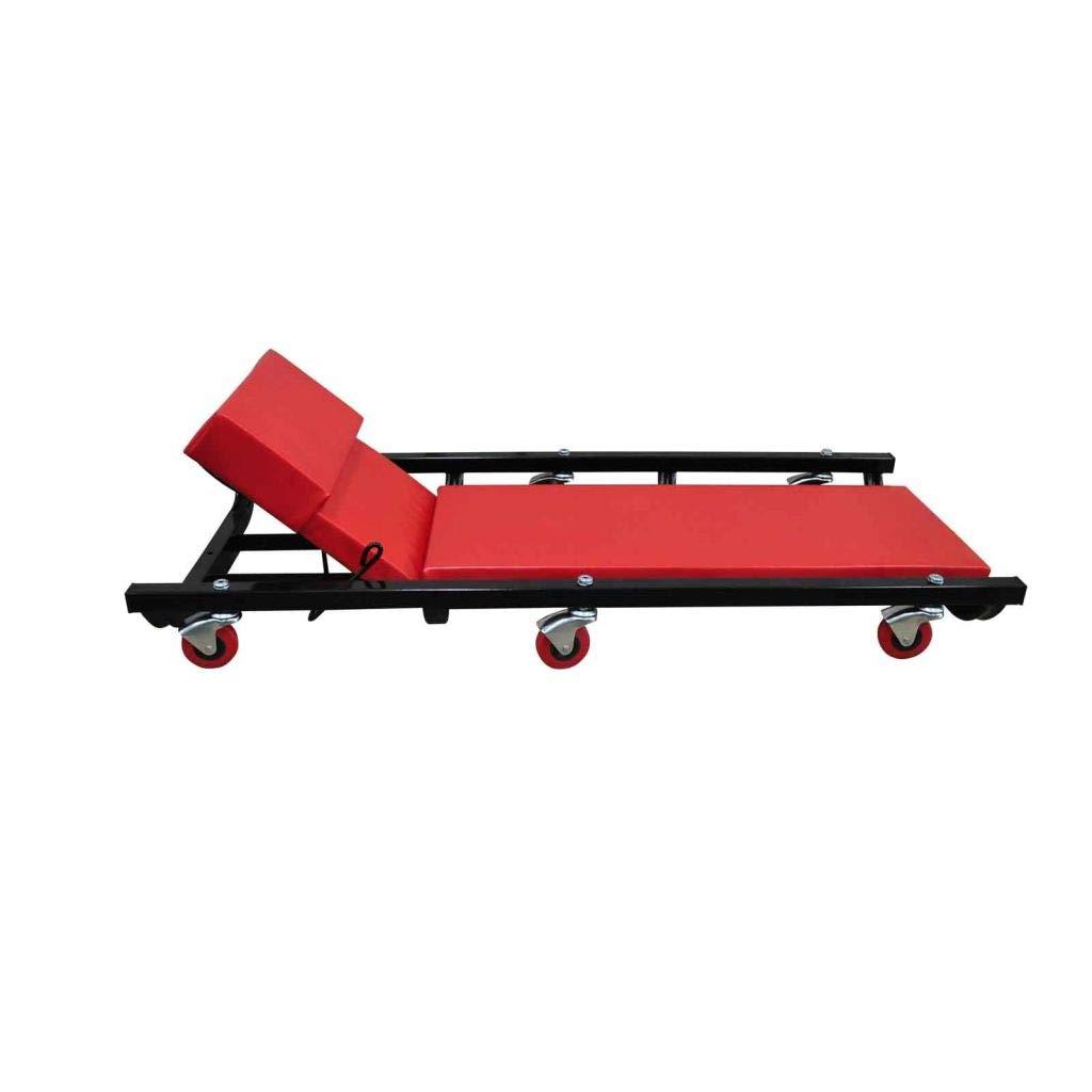 tidyard Werkstatt-Rollbrett mit 6 Rollen Einstellbar Rollbrett Werkstattliege Montageliege Montagerollbrett Montagerollliege
