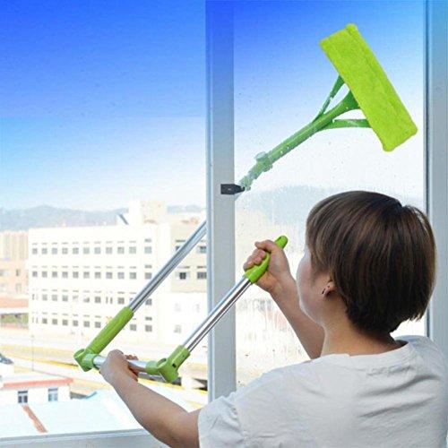 Iusun Telescopic Foldable Handle Cleaning Glass Sponge Mop Cleaner Window Extendable Dust Brush - Glasses Face Frames To Shape Suit